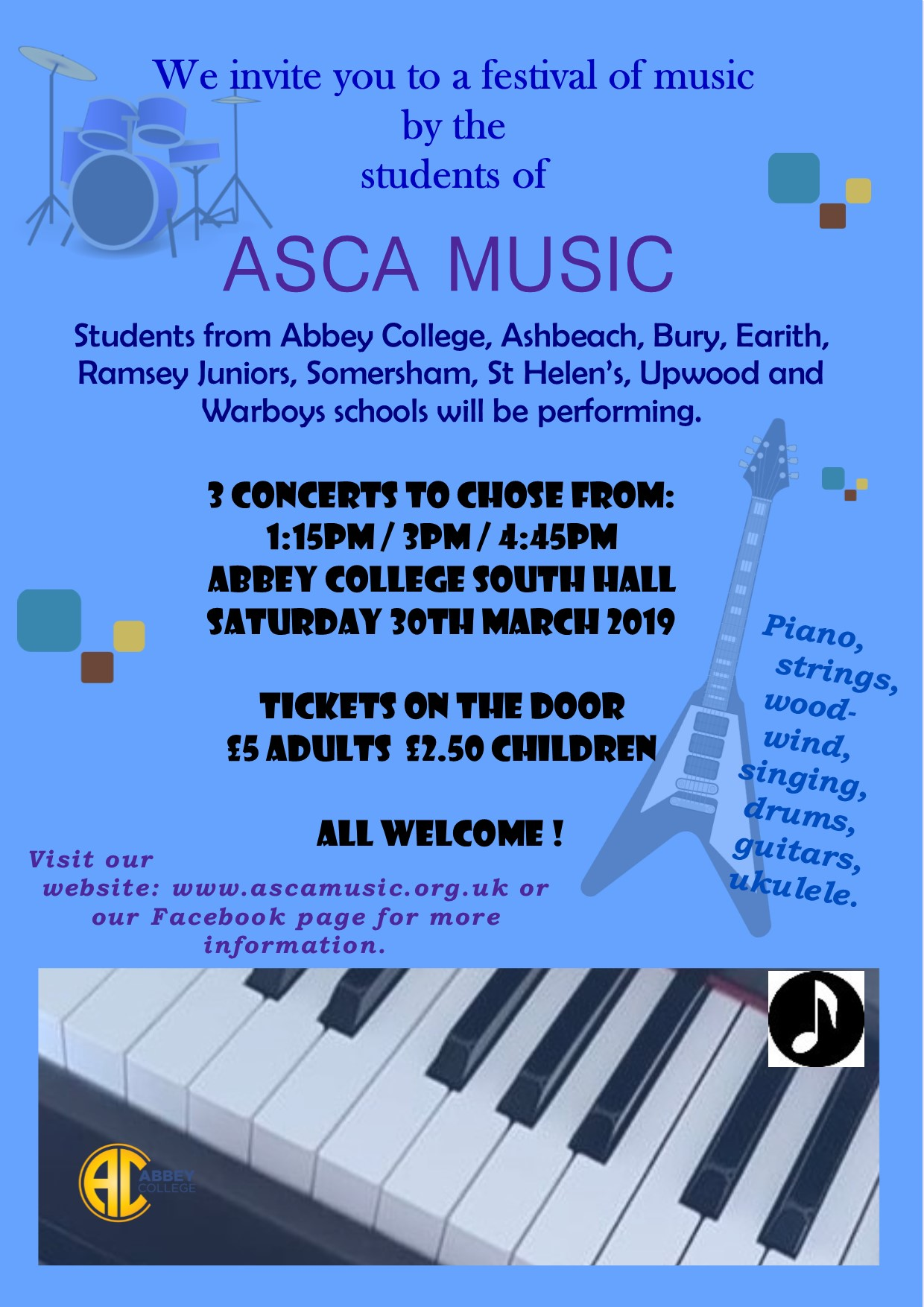 ASCA Music festival 2019 all welcome